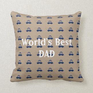 Worlds Best Dad Cars Throw Pillow