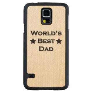 World's Best Dad Carved Maple Galaxy S5 Slim Case