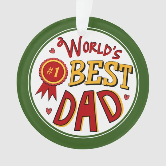 worlds best dad christmas holiday fathers gift ornament - Dad Christmas Ornament