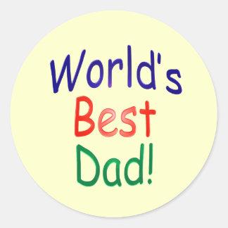 World's Best Dad! Classic Round Sticker