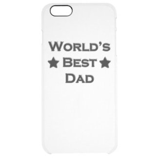 World's Best Dad Clear iPhone 6 Plus Case