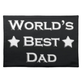 World's Best Dad Cloth Placemat