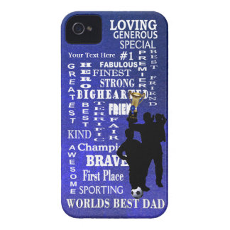 Worlds Best Dad Collage Barely There iPhone 4/4S Case-Mate iPhone 4 Case