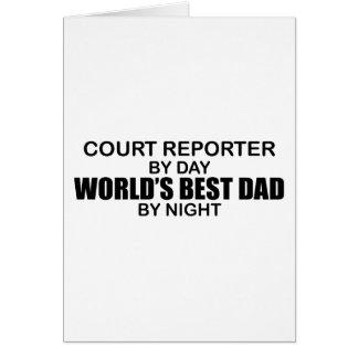 World's Best Dad - Court Reporter Card
