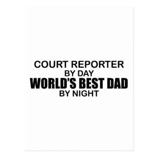 World's Best Dad - Court Reporter Postcard