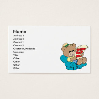 worlds best dad cute fathers day teddy bear design business card