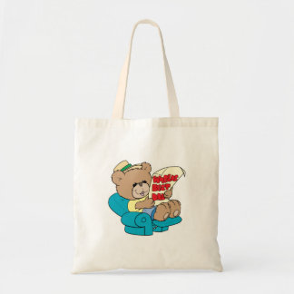 worlds best dad cute fathers day teddy bear design tote bag