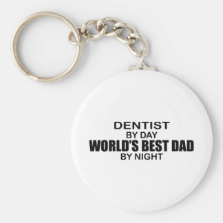 World's Best Dad - Dentist Basic Round Button Keychain