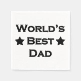 World's Best Dad Disposable Napkin