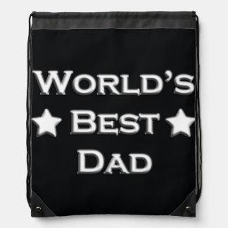 World's Best Dad Drawstring Bag
