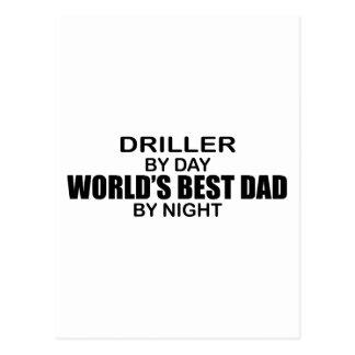 World's Best Dad - Driller Postcard