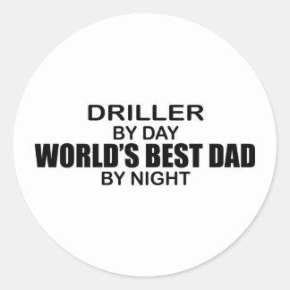 World's Best Dad - Driller Round Stickers