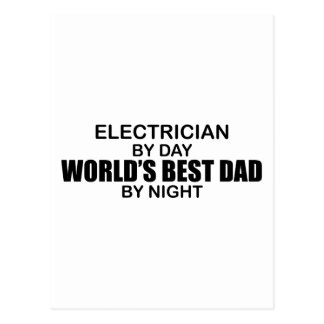 World's Best Dad - Electrician Postcard