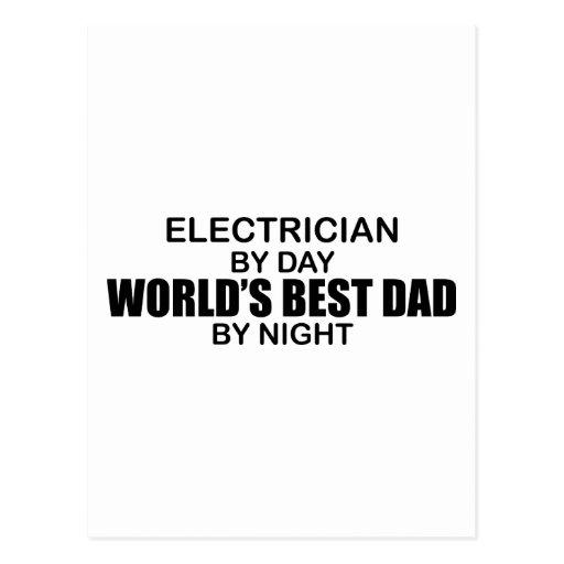 World's Best Dad - Electrician Postcard