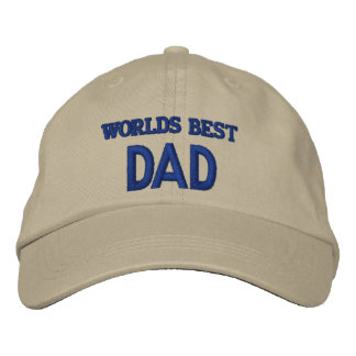 WORLDS BEST DAD EMBROIDERED BASEBALL CAP
