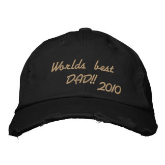 Worlds best DAD!! Embroidered Baseball Cap