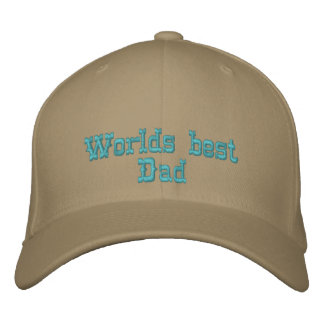 Worlds best Dad Embroidered Baseball Hat