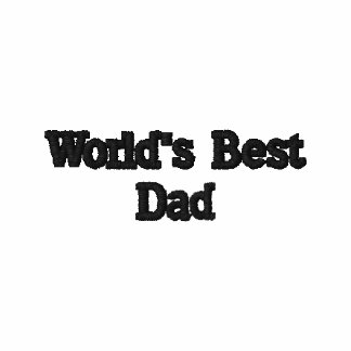 World's Best Dad Embroidered Polo Shirt