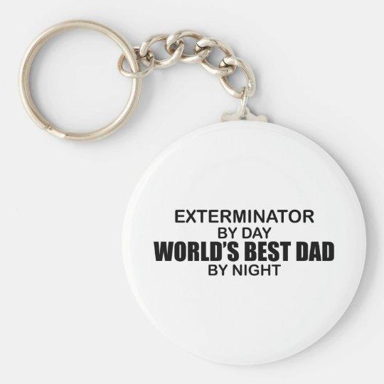 World's Best Dad - Exterminator Keychain