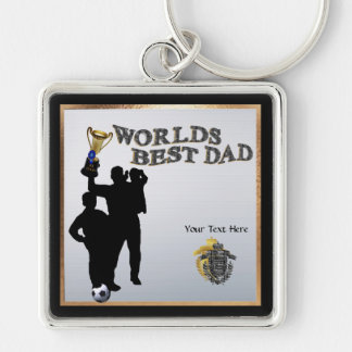 Worlds Best Dad Father's Day Square Keychain