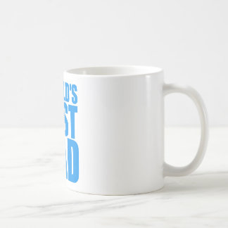 worlds best dad fathers day blue text design coffee mug