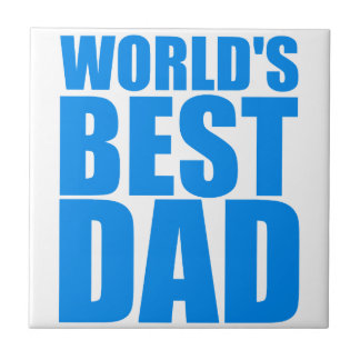 worlds best dad fathers day blue text design tile