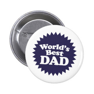 World's Best Dad Father's Day Button