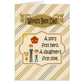 World's Best Dad Father's Day Cards