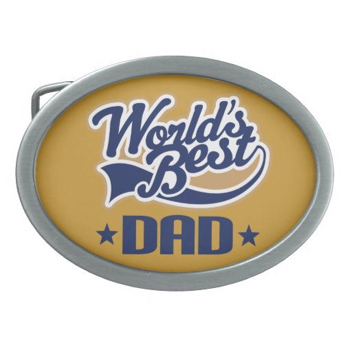 World's Best Dad Father's Day Gift Belt Buckle