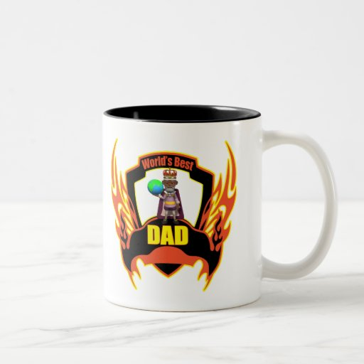 Worlds Best Dad Fathers Day Gifts Two-Tone Coffee Mug