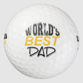 World's Best Dad Father's Day Golf ball
