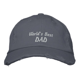 World's Best DAD-Father's Day-(Personalize Name) Embroidered Hat