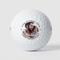 World's Best Dad Father's Day Photo Golf Balls