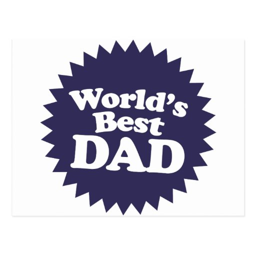 World's Best Dad Father's Day Postcard