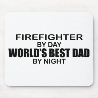 World's Best Dad - Firefighter Mouse Pad
