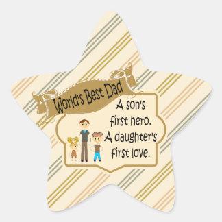 World's Best Dad First Hero First Love Stickers
