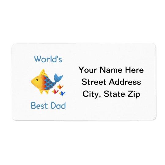 World's Best Dad (fish) Label