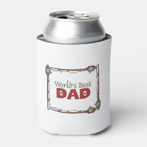 World 39 s best dad fishing can cooler zazzle for Best fishing coolers