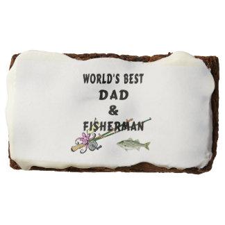 Worlds Best Dad Fishing Chocolate Brownie