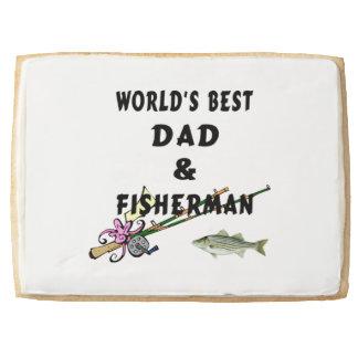 Worlds Best Dad Fishing Shortbread Cookie
