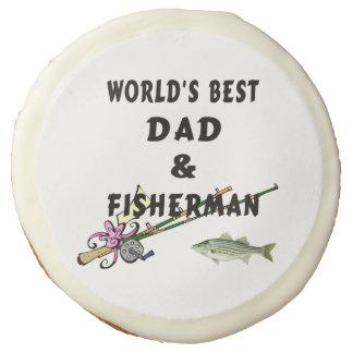 Worlds Best Dad Fishing Sugar Cookie