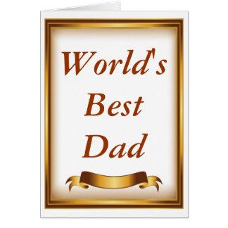 World's best dad frame card