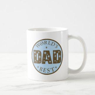 Worlds Best Dad Gift Classic White Coffee Mug
