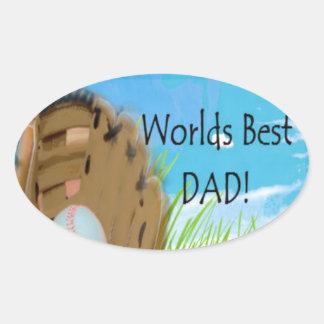 Worlds Best DAD Gifts Oval Sticker