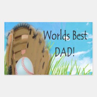 Worlds Best DAD Gifts Rectangular Sticker