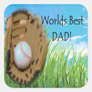 Worlds Best DAD Gifts Square Sticker