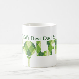 World's Best Dad & Golfer fun golfing green mug