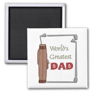 World's Best Dad Golfing Magnet