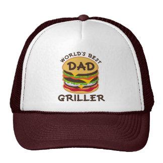 World's Best Dad Griller BBQ Theme Gift Hat