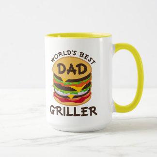 World's Best Dad Griller BBQ Theme Gift Mug